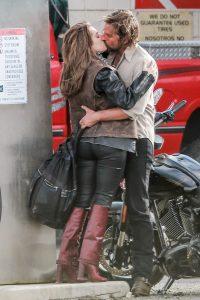 Lady Gaga and Bradley Cooper Share a Smooch on 'A Star Is Born' Set