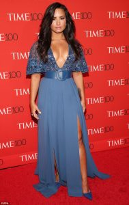 Demi Lovato puts on a dazzling display in two cleavage-baring gowns at Time 100 Gala in New York